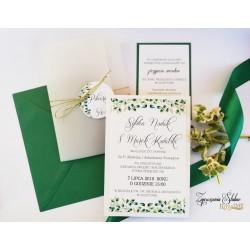 Zaproszenia ślubne Forest