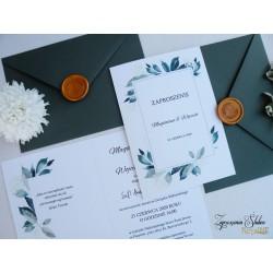 Zaproszenia ślubne z lakiem...
