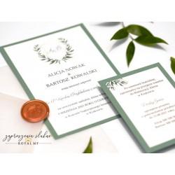 Zaproszenie ślubne Monogram