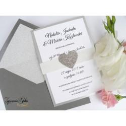 Zaproszenie ślubne Glitter