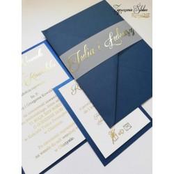 Zaproszenia ślubne Royal blue