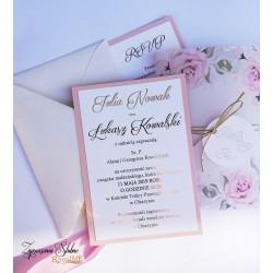 Zaproszenia ślubne Sweet Pink