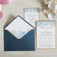 Zaproszenia ślubne Lilak