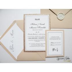Zaproszenia ślubne Golden Pink